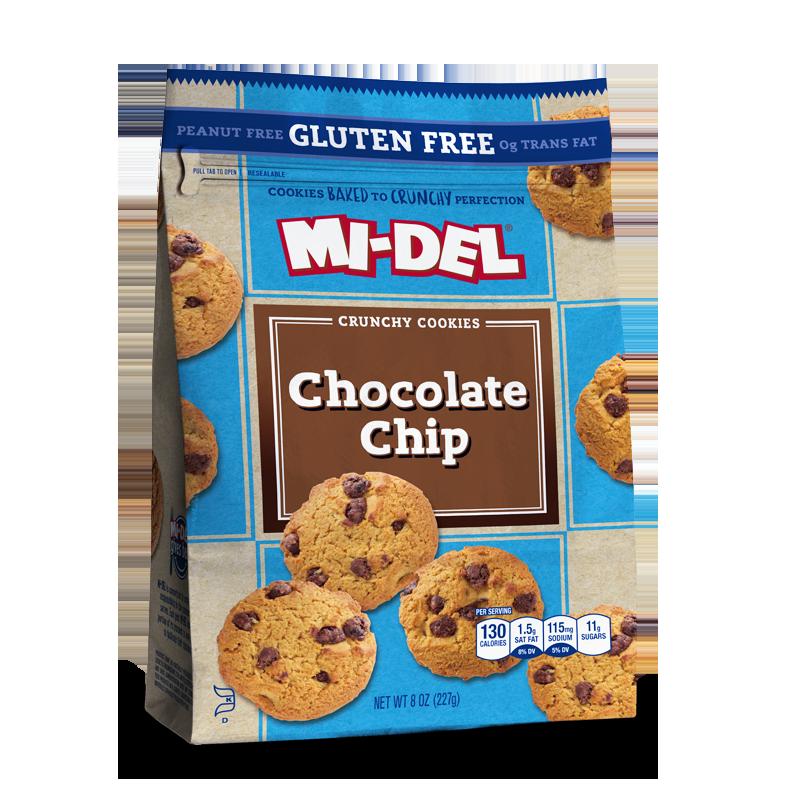Gluten Free Chocolate Chip Cookies - MI-Del Cookies